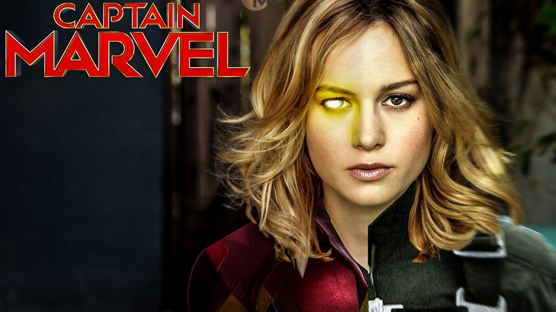 Captain Marvel Poster Wallpaper with high-resolution 1920x1080 pixel. You can use this poster wallpaper for your Desktop Computers, Mac Screensavers, Windows Backgrounds, iPhone Wallpapers, Tablet or Android Lock screen and another Mobile device